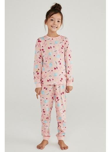 Penti Kız Çocuk Çok Renkli Trolls Rainbow 2'li Pijama Takım PNMI9FPZ20SK Renkli